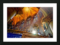 Jeanne d Arc and Saint Croix Cathedral at Orleans   France 7 of 7 Picture Frame print