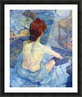 Rousse the Toilet by Toulouse-Lautrec Picture Frame print