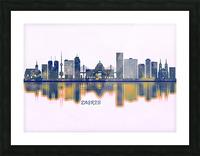 Zagreb Skyline Picture Frame print