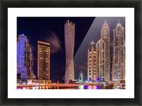 Dubai Marina Night Shot Picture Frame print