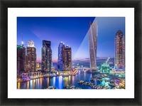 Dubai Marina Picture Frame print