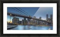 New York - Blue Hour over Manhattan Picture Frame print