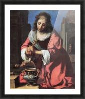 Saint Praxedis by Vermeer Picture Frame print
