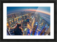 Dubai Colors of Night Picture Frame print
