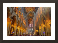 Saint Croix Cathedral France Picture Frame print