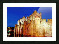 Castle of the Counts Belgium Picture Frame print