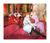 Salon in the Rue de Moulins by Toulouse-Lautrec Picture Frame print
