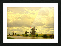 Windmills at Sunset - Netherlands Picture Frame print