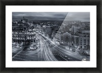 Madrid City Lights Picture Frame print