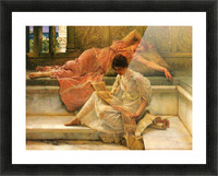 A favorite poet by Alma-Tadema Picture Frame print