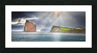 Cap Mont-Joli et son Rocher Perce Picture Frame print