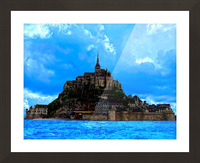 Mont St Michel Panorama Picture Frame print
