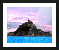 Mont St Michel at Sunset - France Picture Frame print