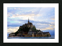 Mont St Michael Rising Tide - France Picture Frame print
