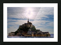 Mount Saint Michael The Fires of Heaven - Normandy France Picture Frame print