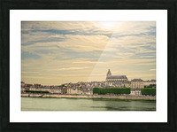 Cathedrale Saint Louis Across the Loire - Sunset France Picture Frame print