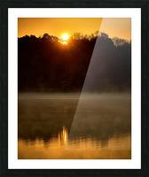 Sunrise at Langley Pond Park   Aiken SC 7R301617 12 19 20 Picture Frame print