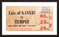 1941 Temple vs. Kansas Picture Frame print