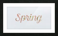 Daltana Spring Drill Picture Frame print