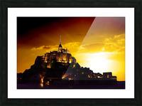 Majestic Mount Saint Michael Picture Frame print