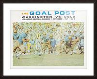 1969 UCLA vs. Washington Football Program Cover Art Picture Frame print