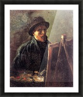 Self-Portrait with Dark Felt Hat at the Easel by Van Gogh Picture Frame print