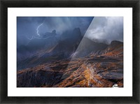 Bergwetter Picture Frame print