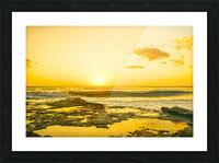 Golden Moment - Sunset Hawaiian Islands Picture Frame print