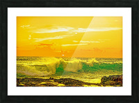 At the Sea Shore - Sunset Hawaiian Islands Picture Frame print