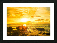 Majestic Sunset - Hawaiian Islands Picture Frame print