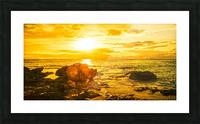 Majestic Sunset Panorama - Sunset Hawaiian Islands Picture Frame print