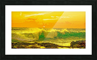 At the Sea Shore Panorama - Sunset Hawaiian Islands Picture Frame print