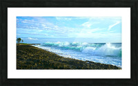 Blue Day Panorama Picture Frame print