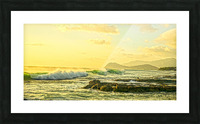 Perfect Day Panorama - Sunset Hawaiian Islands Picture Frame print