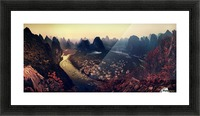 The Karst Mountains of Guangxi Picture Frame print