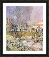 Snow in Rue Carcel by Gauguin Picture Frame print