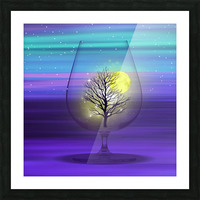 Landscape in a glass. Picture Frame print