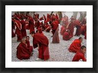 Monks debating Picture Frame print