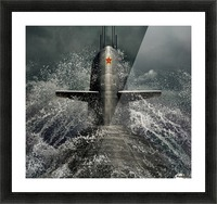 submarine Picture Frame print