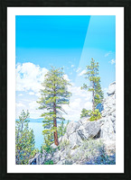 Top of the Mountain California  Picture Frame print