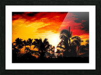 Fire in the Heavens - Sunset Hawaiian Islands Picture Frame print