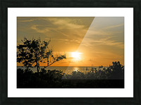 Delicate - Sunset Hawaiian Islands Picture Frame print