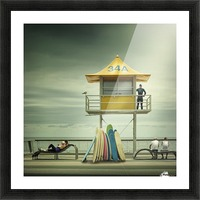 The life guard Picture Frame print