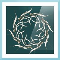 wintermandala Picture Frame print