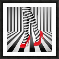 Red Shoes Picture Frame print