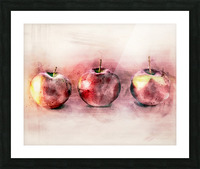 Three Apples Picture Frame print