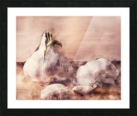 Garlic In The Kitchen Picture Frame print