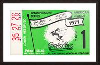 1971 Baltimore Orioles American League Championship Picture Frame print