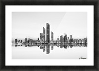 Abu Dhabi Urban Reflection Picture Frame print