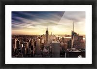 Long Sunset by Javier de la Picture Frame print